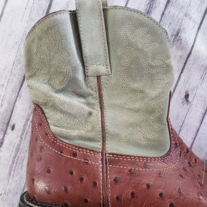 Ariat Shoes - Ariat Fatbaby Mocha Ostrich 7.5 Cowboy Boots